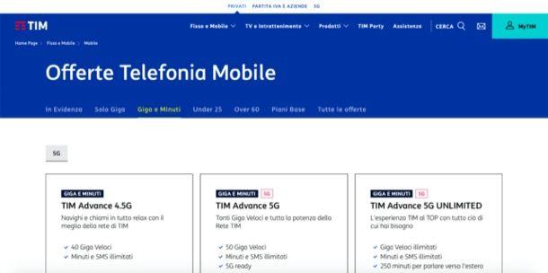 offerte TIM telefonia mobile