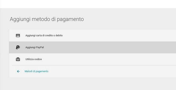 Comprare su Google Play senza carta di credito - PayPal