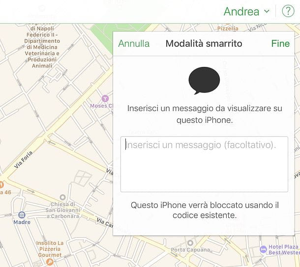 Trova iPhone