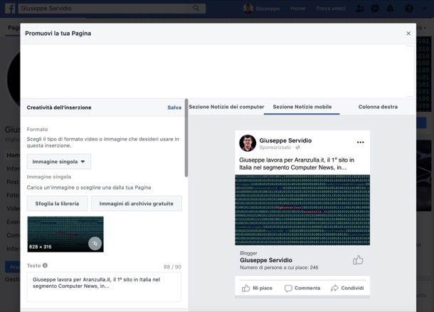 come pubblicizzare un prodotto su Facebook