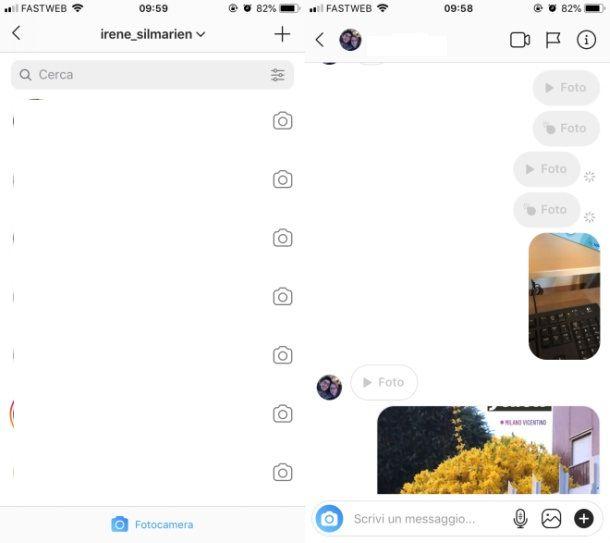 Come vedere le foto ricevute su Instagram