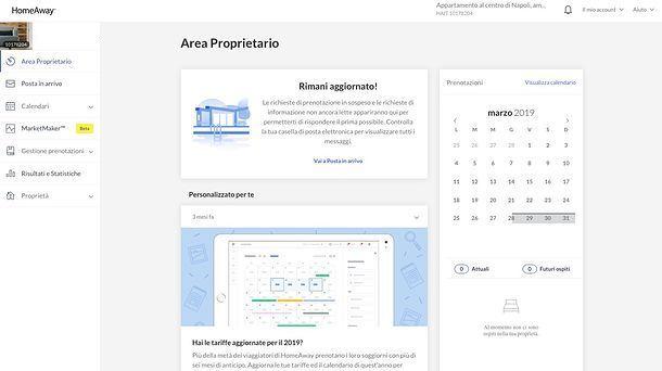 Area Proprietario HomeAway