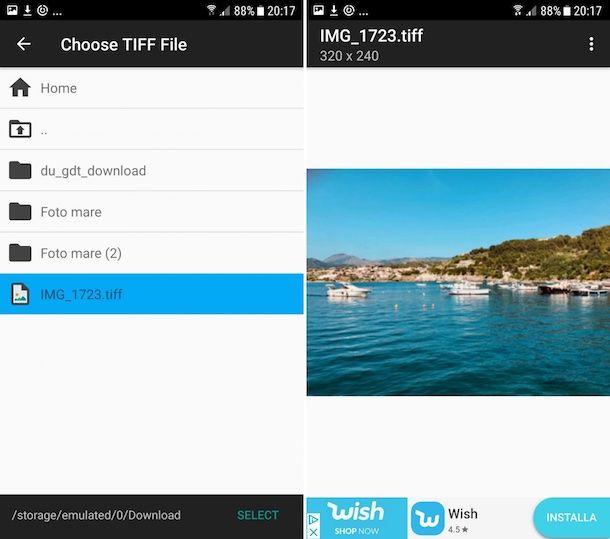 Come aprire file TIF