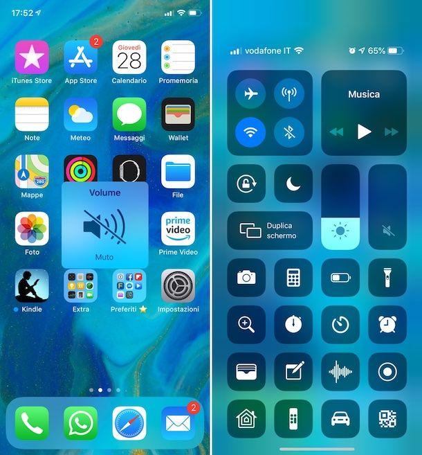 Centro di controllo iOS
