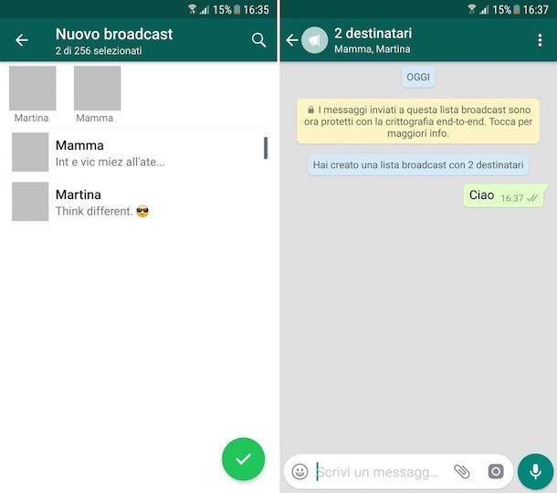 Come inviare un messaggio a tutti i contatti WhatsApp per Android