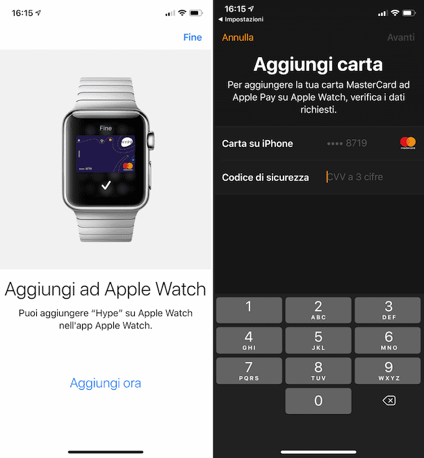 Come pagare con Apple Watch