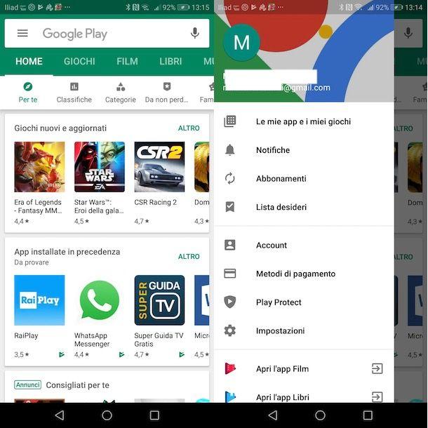 Disattivare abbonamento Google Play