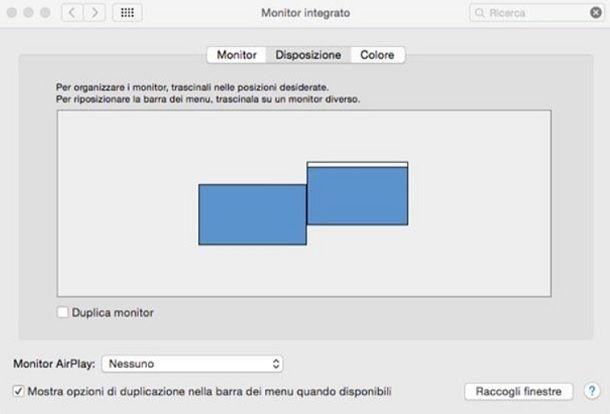 Impostazioni schermo Mac