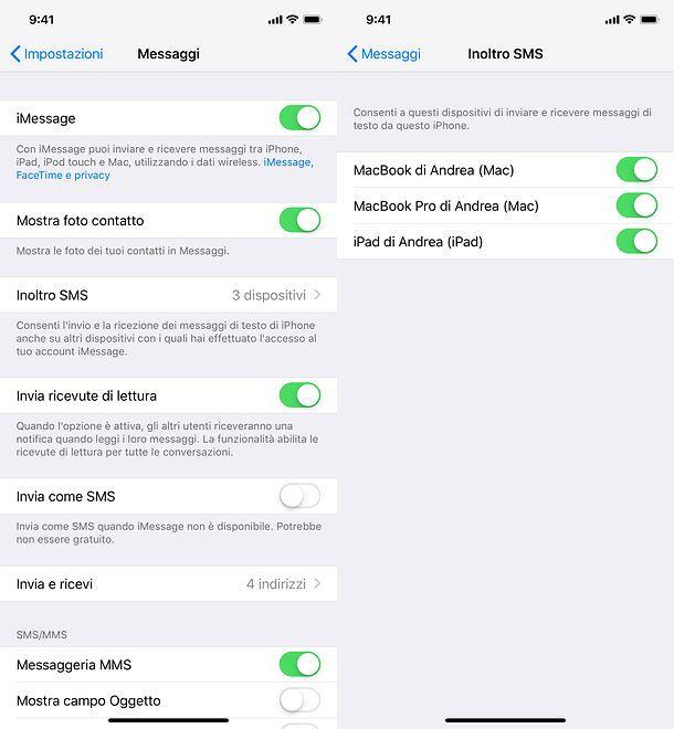 Come ricevere SMS su iPad