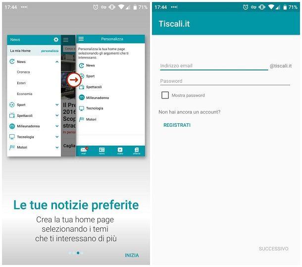 Come configurare email Tiscali su Android