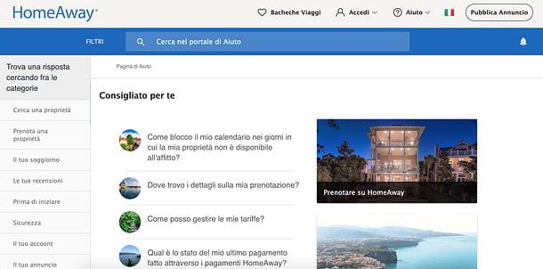 Supporto HomeAway