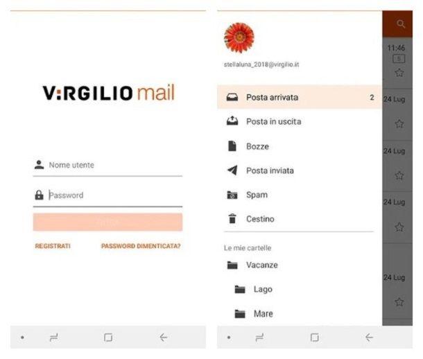 Come configurare email Virgilio su Android