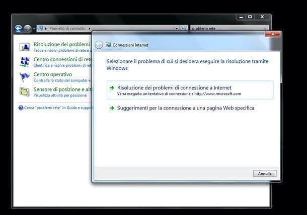 Risoluzione problemi Windows 7