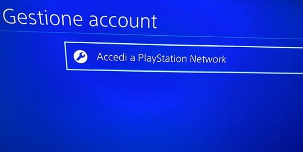 Accedi PlayStation Network