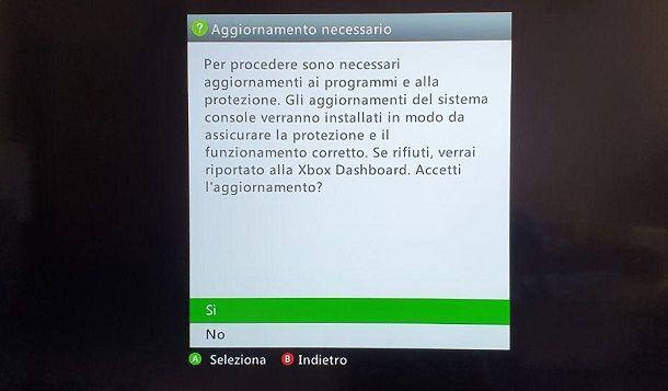 Aggiornamento Xbox 360 USB