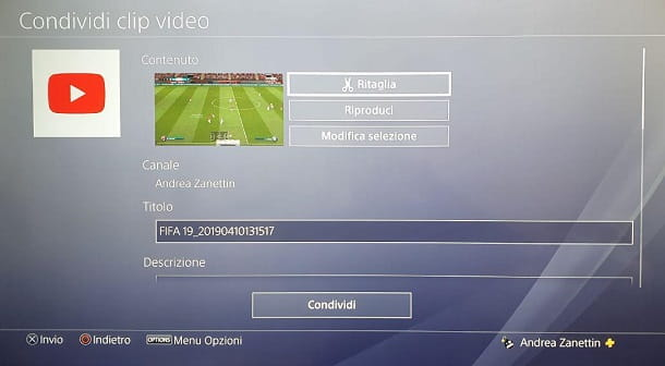 Carica Video YouTube Ps4