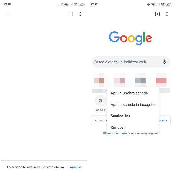 Come eliminare i siti più visitati su Google Chrome per smartphone e tablet