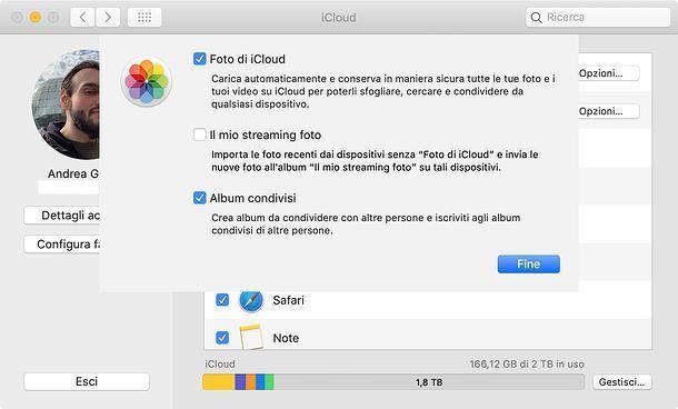 iCloud su Mac
