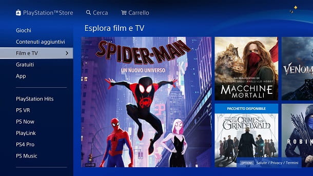 Film PlayStation Store
