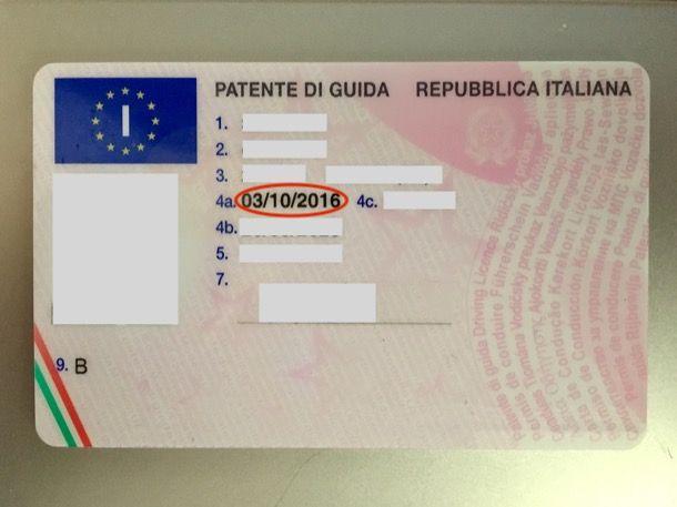 come sapere data rilascio patente