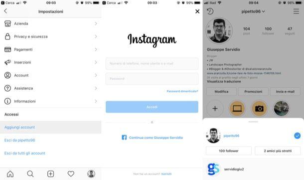 come gestire una pagina instagram