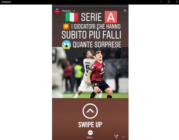 Instagram Swipe Up w10