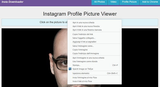 Instagram profilo download