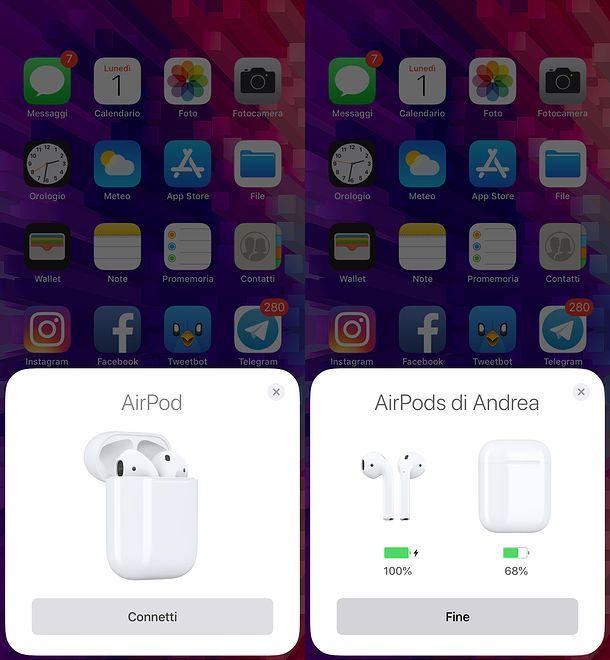 Abbinamento AirPods
