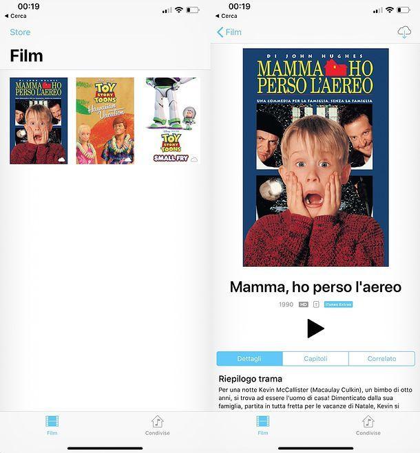 Come noleggiare film iPhone