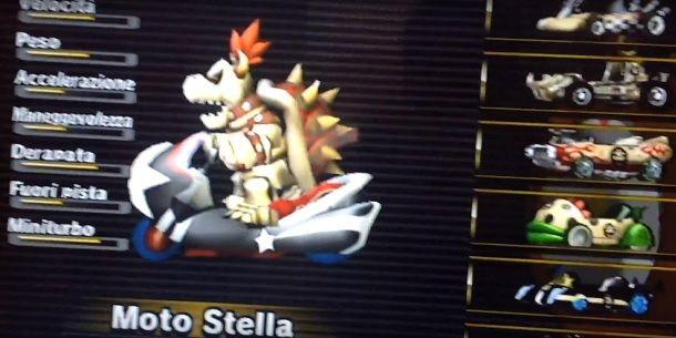 Moto Stella Mario Kart Wii