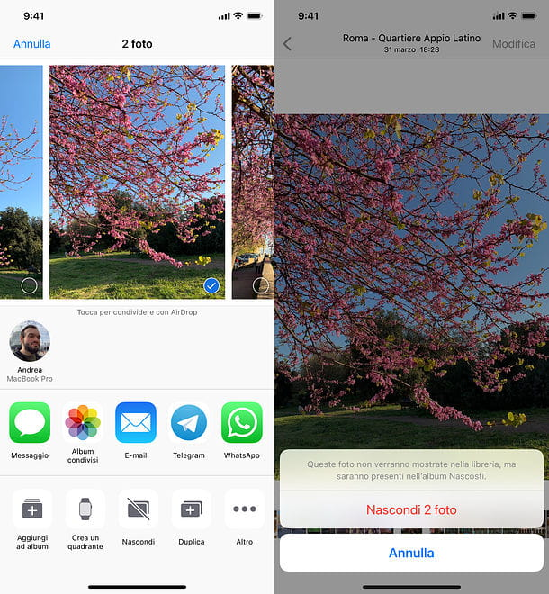 Come nascondere file e cartelle su iOS