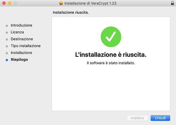 Installazione di VeraCrypt su macOS