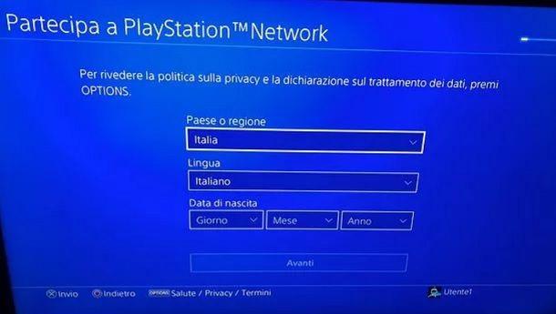 Partecipa a PlayStation Network