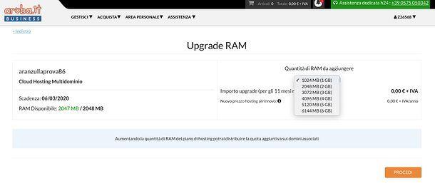 Upgrade RAM Aruba