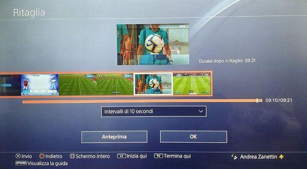 Ritaglia Clip Video PS4