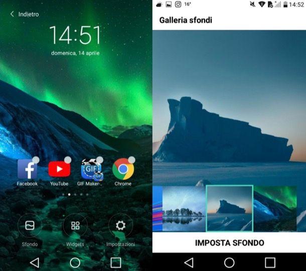 Come cambiare lo sfondo sul cellulare