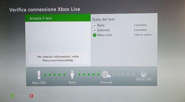 Verifica Connessione Xbox Live
