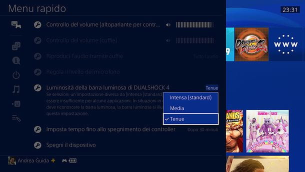 Come spegnere luce controller PS4