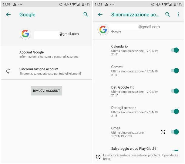Come importare contatti da Google su Android