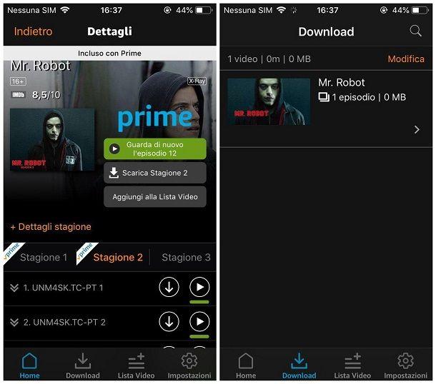 Come scaricare serie TV su iPhone - Amazon Prime Video