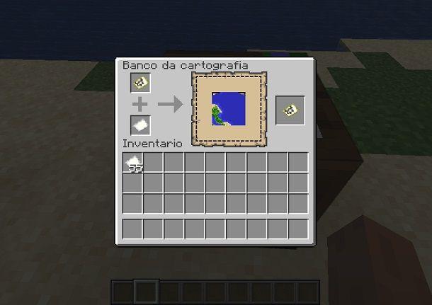 ampliamento mappa minecraft banco cartografia