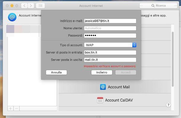 Come impostare posta elettronica su PC - Apple Mail