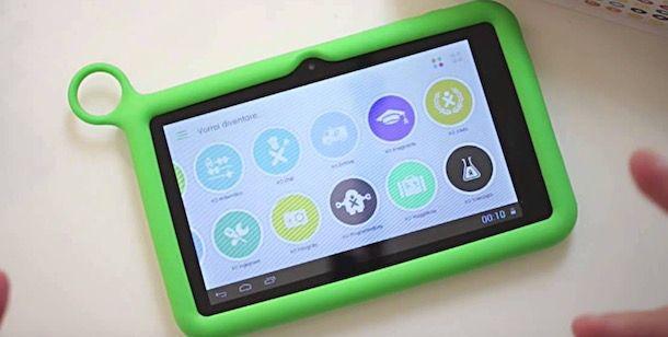Foto di un tablet per bambini