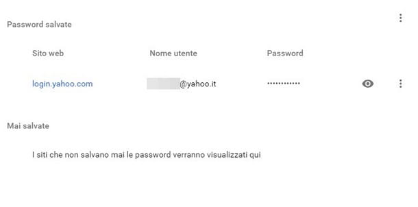 Recuperare password Yahoo email - Browser
