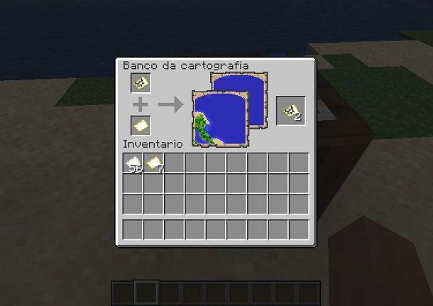 clonazione mappa minecraft banco cartografia