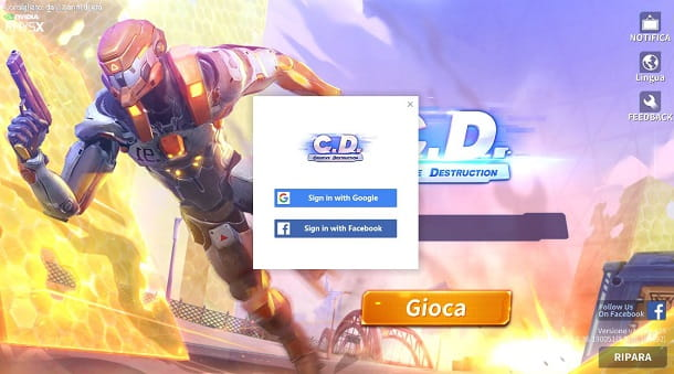 creative destruction login PC