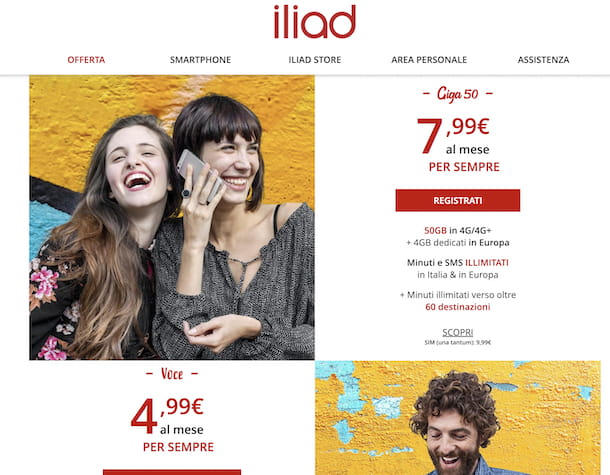 Come passare da Vodafone a Iliad