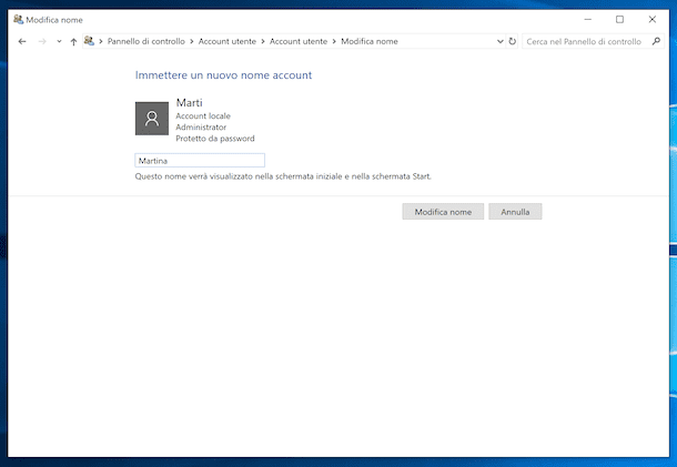 Account utente Windows 10