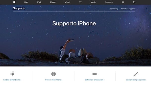 Supporto iPhone