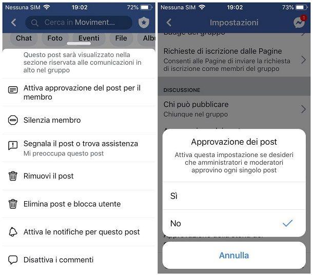 Disattivare i commenti su Facebook - smartphone e tablet